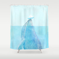 Lift Shower Curtain by Eric Fan | Society6
