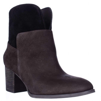 Nine West Dale Pull On Ankle Boots, Dark Brown/Dark Brown, 8 US