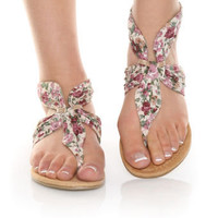 CityClassified Beacon Natural Flower Thong Sandals - $20.00