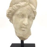 Aphrodite Greek Roman Maiden Classical Bust Statue 12H