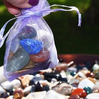 Grab Bag of Small Stones Intuitively Chosen Just For You By Spirit - Mystery Bag of Healing Crystals