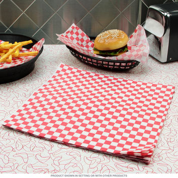 Basket Buddies 24 Red Paper Deli Liners