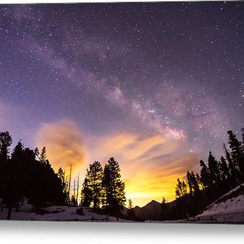 Early Morning Colorful Colorado Milky Way View Acrylic Print