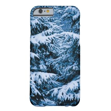 Winter Forest Christmas Tree Barely There iPhone 6 Case
