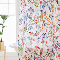 Whimsical Floral Shower Curtain - Urban Outfitters