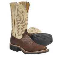 "Justin Boots Aqha Q-Crepe Cowboy Boots - Leather, 11"", Square Toe, Rubber Outsole (For Women) - Save 32%"