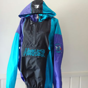 Vintage Charlotte Hornets Basketball Windbreaker Jacket 1993