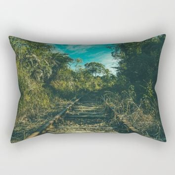 Abandoned Rectangular Pillow by Mixed Imagery