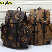 Louis Vuitton Casual retro versatile stitching large-capacity backpack