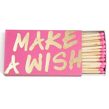 THE SOCIAL TYPE MAKE A WISH MATCHBOX