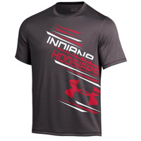 Indiana Hoosiers Under Armor Side Print Performance T-Shirt - Charcoal