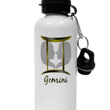 Gemini Symbol Aluminum 600ml Water Bottle