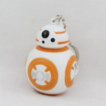 Star Wars Bb-8 Robot Led Keychain With Sound Bb8 Droid Figure Toy For Kids Gifts The Last Jedi Figures Kawaii Bb8