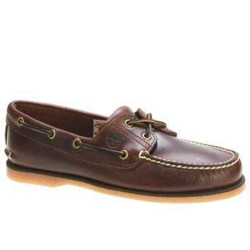 Timberland Earthkeepers Classic 2 Eye Brown Leather Brown Boat Shoe