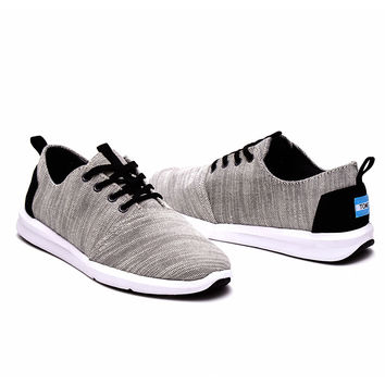 GREY TEXTURED WOVEN MEN'S DEL REY SNEAKERS