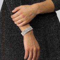 Silver Wrapped In Diamonds Stretch Bracelet
