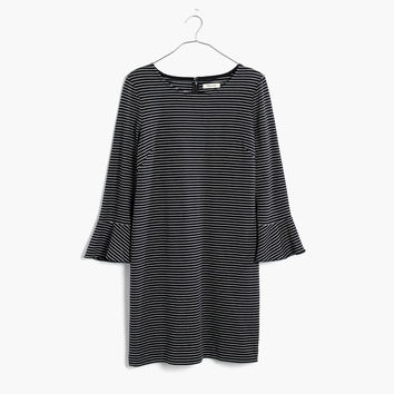 Knit Bell-Sleeve Dress in Stripe : shopmadewell casual dresses | Madewell