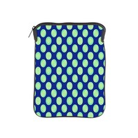 Green Yellow Circles on Dark Blue iPad Sleeve