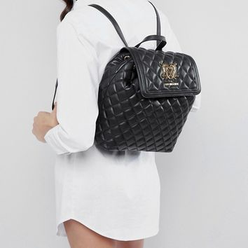 Love Moschino Quilted Backpack at asos.com