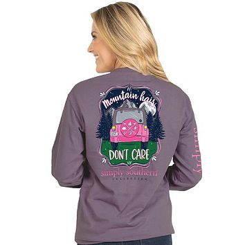 Mountain Hair Don't Care - Jeep - SS - Adult Long Sleeve