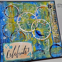 Celebrate Mixed Media Canvas Board. Ready to Ship