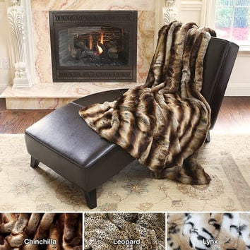 Oversize Thick Luxury Plush Soft Mink Faux Fur Throw Blanket