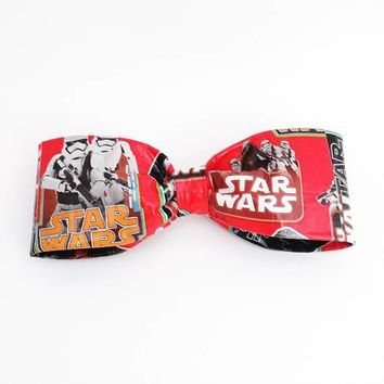 Star Wars  Clip On Bow Tie, Men's Accessories, Cool Red Bowties