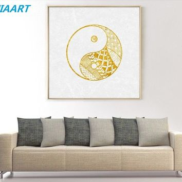 Simple Abstract Yin Yang Tai Chi Modular Print Picture Wall Art Canvas Paintings Decoration for Living Room