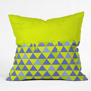 Jacqueline Maldonado Triangle Dip Lime Throw Pillow