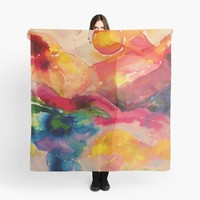 'abstract watercolor' Scarf by Marianna Tankelevich