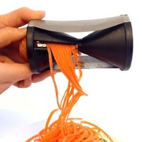 Topicker Stainless Steel Vegetable Spiralizer Carrot Spiral Slicer - Black