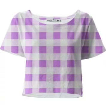 LAVENDER GINGHAM Crop Top