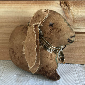 Primitive Rabbit Bowl Filler - Primitive Lop Eared Rabbit