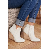 One Wish Wedge Booties (Stone)