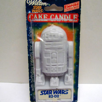 Vintage Star Wars R2-D2 Cake Candle still by VINTAGEandMOREshop