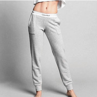 Calvin klein Women Fashion Print Stretch Trousers Pants Sweatpants H-A-KSFZ