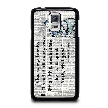 lilo and stitch quotes disney samsung galaxy s5 case cover  number 1