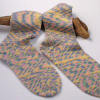 Ready to ship. Women's / teenager hand knitted bamboo socks. UK 5, US 6 1/2, EU 38