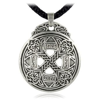 EZEI Small  Knot Cross Love Pendant Viking Norse Rune Necklace Wiccan Pagan Asatru Jewelry