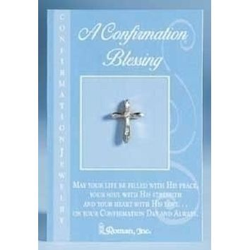 Set of 12 Religious Confirmation Blessing Cross Pins #40454