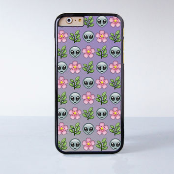 Alien Flower Collection Plastic Case Cover for Apple iPhone 6S 6S Plus 6 6 Plus 4 4s 5 5s 5c