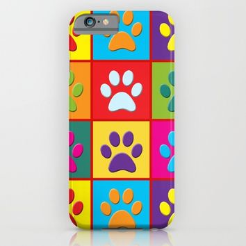 Paw Prints iPhone & iPod Case by Miss L In Art