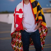 Maryland Flag / 50in x 59in Blanket