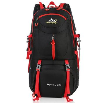 Sports gym bag 60L Hiking Backpack Daypack For Men And Women Couple Nylon Waterproof Camping Traveling Backpack Outdoor Climbing  KO_5_1
