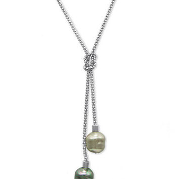 Majorica Organic Man-Made Pearl Lariat Necklace