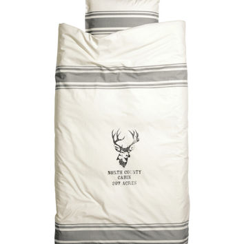 H&M - Duvet Cover Set - Light beige