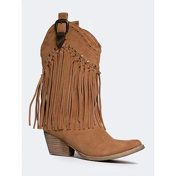 3ff47b251daf Best Tan Fringe Boots Products on Wanelo