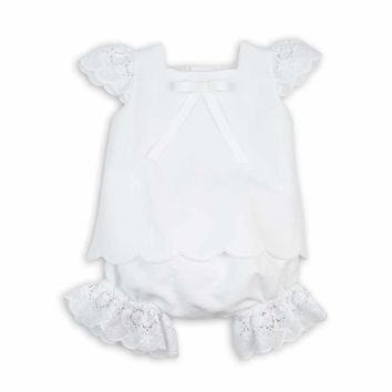 Rochy Baby Girls' Linen Two Piece Set