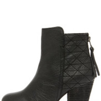 Steve Madden Roadruna Black Leather High Heel Boots