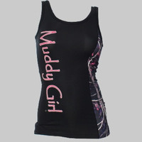 Muddy Girl Camo Edge Black Tank Top